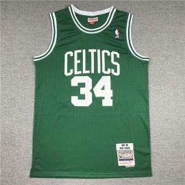 Camiseta Paul Pierce #34 Boston Celtics 2007/08 Verde Hardwood Classics