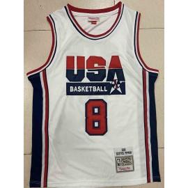 Camiseta Scottie Pippen #8 USA 1992 Dream Team Blanco Classic