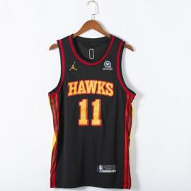 Camiseta Trae Young #11 Atlanta Hawks 2021 Negro