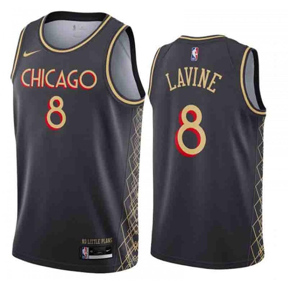 Camiseta Zach Lavine #8 Chicago Bulls 2020/21 Negro City Edition
