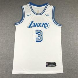 Camiseta Anthony Davis #3 Los Angeles Lakers Blanco City Edition