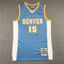 Camiseta Carmelo Anthony #15 Denver Nuggets Azul Retro