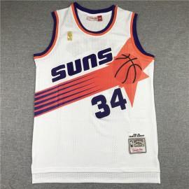 Camiseta Charles Barkley #34 Phoenix Suns Blanco Etiqueta de Oro
