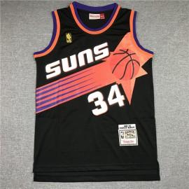 Camiseta Charles Barkley #34 Phoenix Suns Nrgro Etiqueta de Oro
