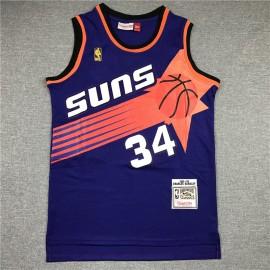 Camiseta Charles Barkley #34 Phoenix Suns Púrpura Etiqueta de Oro