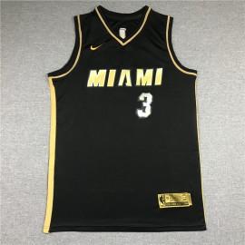 Camiseta Dwyane Wade #3 Miami Heat 2021 Oro Negro