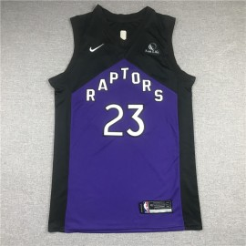 Camiseta Fred VanVleet #23 Toronto Raptors Púrpura Earned Edition