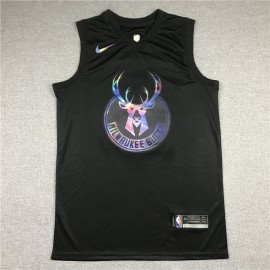 Camiseta Giannis Antetokounmpo #34 Milwaukee Bucks Rainbow Edition