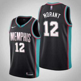Camiseta Ja Morant #12 Memphis Grizzlies 2021 Negro