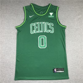 Camiseta Jayson Tatum #0 Boston Celtics Verde Earned Edition