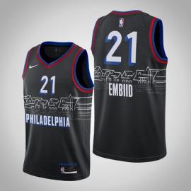 Camiseta Joel Embiid #21 Philadelphia 76ers 2021 City Edition Negro