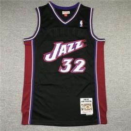 Camiseta Karl Malone #32 Utah Jazz Retro Negro