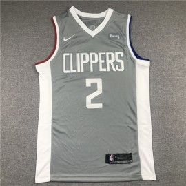 Camiseta Kawhi Leonard #2 Los Angeles Clippers Gris Earned Edition