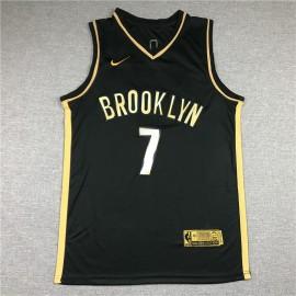 Camiseta Kevin Durant #7 Brooklyn Nets 2021 Oro Negro