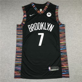 Camiseta Kevin Durant #7 Brooklyn Nets Negro City Edition