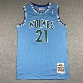 Camiseta Kevin Garnett #21 Minnesota Timberwolves 1995/96 Azul