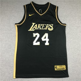 Camiseta Kobe Bryant #24 Los Angeles Lakers 2021 Oro Negro