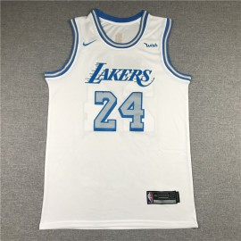 Camiseta Kobe Bryant #24 Los Angeles Lakers Blanco City Edition
