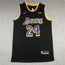 Camiseta Kobe Bryant #24 Los Angeles Lakers Negro Earned Edition