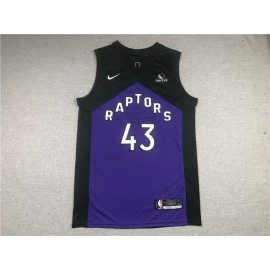 Camiseta Pascal Siakam #43 Toronto Raptors Púrpura Earned Edition