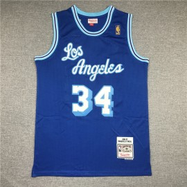 Camiseta Shaquille O'Neal #34 Los Angeles Lakers Azul