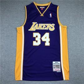Camiseta Shaquille O'Neal #34 Los Angeles Lakers Retro Púrpura