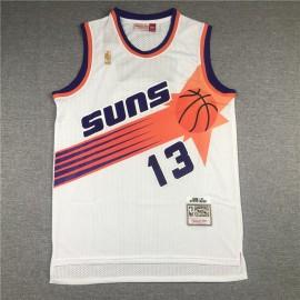 Camiseta Steve Nash #13 Phoenix Suns Blanco Etiqueta de Oro
