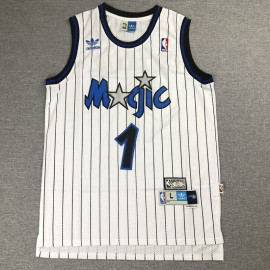 Camiseta Tracy McGrady #1 Orlando Magic Raya Blanco