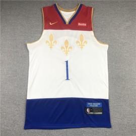 Camiseta Zion Williamson #1 New Orleans Pelicans 2021 Blanco City Edition