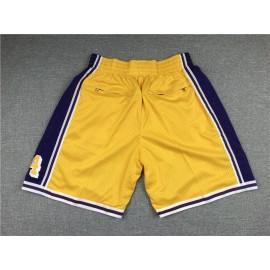 Pantalon Corto de Bolsillo Los Angeles Lakers Amarillo