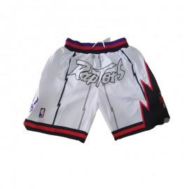 Pantalon Corto De Bolsillo Toronto Raptors Blanco