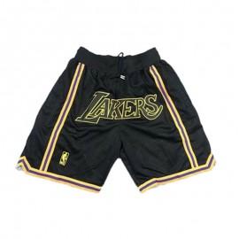 Pantalon Corto Los Angeles Lakers Negro Just Don