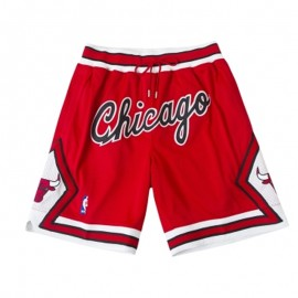 Pantalon Corto Michael Jordan Chicago Bulls Rojo Just Don