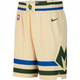 Pantalon Corto 19/20 Milwaukee Bucks Beige City Edition