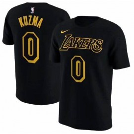 Camiseta Kyle Kuzma #0 Los Angeles Lakers Negro