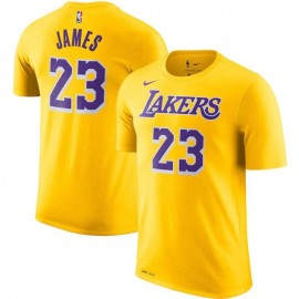 Camiseta LeBron James #23 Los Angeles Lakers Amarillo