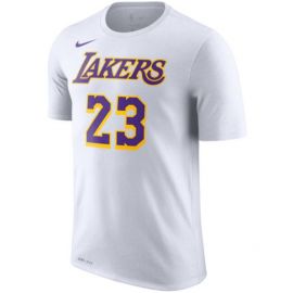 Camiseta LeBron James #23 Los Angeles Lakers Blanco
