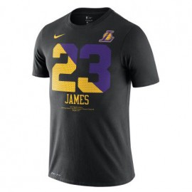 Camiseta LeBron James #23 Los Angeles Lakers Negro