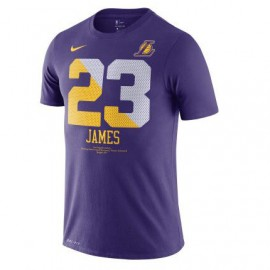 Camiseta LeBron James #23 Los Angeles Lakers Purpuro