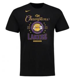 Camiseta Los Angeles Lakers NBA Champions Locker Room Negro